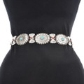 Turquoise Coral Concho Belt 13841