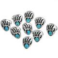 Turquoise Bear Paw Ladies Rings 29749