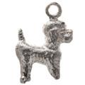 Sterling Silver Dog Poodle Charm