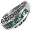 Turquoise Silver Unisex Southwest Ring 28818