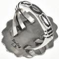Navajo Hammered Silver Ring 28942