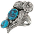 Turquoise Silver Ladies Southwest Ring 26442