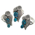 Natural Turquoise Nugget Rings 26442