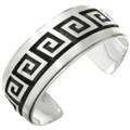 Overlaid Silver Native American Cuff 10559