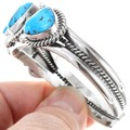 Navajo Sterling Silver Turquoise Bracelet 16120