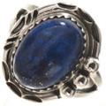 Dark Blue Lapis Sterling Ring 28748