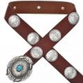 Morgan Silver Dollar Concho Belt 17694