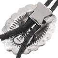 Native American Hammered Silver Bolo Tie 23418