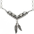 Silver Shell Native American Link Necklace 29253