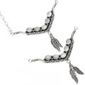 Feather Dangle Indian Choker Necklace 29253