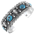 Silver Buffalo Natural Turquoise Cuff Bracelet 23578