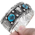 Traditional Sterling Silver Turquoise Bracelet 23578