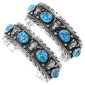 Kingman Turquoise Nugget Native American Bracelet 23578