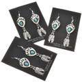 Native American Kingman Turquoise Earrings 27602