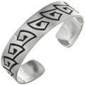 Overlaid Navajo Silver Cuff Bracelet 10771