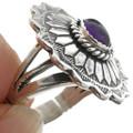 Amethyst Silver Concho Ring 28945