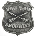Silver Pow Wow Security Badge 29183
