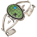 Southwest Colorful Sterling Cuff Bracelet 29711