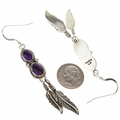 Silver Gemstone Dangle Earrings 29461