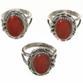Southwest Coral Rings 28746