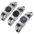 Sterling Silver Onyx Navajo Watches 23010