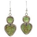 Green Turquoise Dangle Earrings  29665