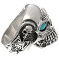 Turquoise Silver Mens Jewelry 25917