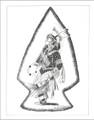 Fancy Powwow Dancer Navajo Art Print  21111