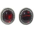 Navajo Red Paua Stud Earrings 28447