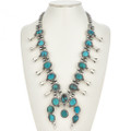 Bisbee Turquoise Squash Blossom Necklace 29685
