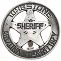 Tombstone Silver Sheriff Badge 29007