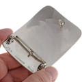 Eagle Hand Engraved Silver Belt Buckle 24353