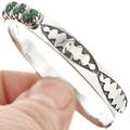 Malachite Silver Row Bracelet 29228