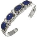 Lapis Silver Native American Bracelet 29419