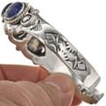 Navajo Lapis Silver Cuff 29419