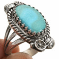 Native Turquoise Silver Ring 27811