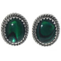 Navajo Green Paua Shell Earrings 28444