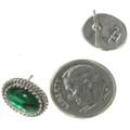 Green Shell Native American Earrings 28444