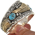 Genuine Turquoise Gold Navajo Jewelry 24247