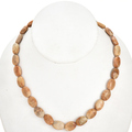 12mm x 16mm Fossil Coral Beads 16 inch Long Strand