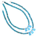 Native American Turquoise Heishi Necklace 26791