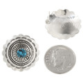 Navajo Traditional Hammered Silver Concho Earrings 27322