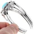 Kingman Turquoise Silver Cuff 27690