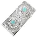 Navajo Turquoise Silver Money Clip 24738