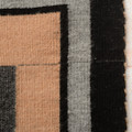 Two Grey Hills Navajo Wool Rug Handwoven 2.8 Feet by 4.2 Feet  0082