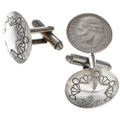 Native American Sterling Cuff Links 29602