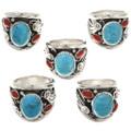 Kingman Turquoise Coral Ring 27411