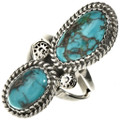 Navajo Turquoise Silver Ladies Ring 28519