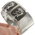 Hopi Kachina Silver Cuff 10770