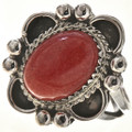 Red Mountain Jade Silver Ladies Ring 28688